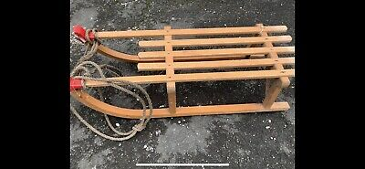 £55 • Buy Vintage Large Gloco Davoser Wooden Sledge With Metal Runners
