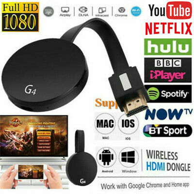 AU30.99 • Buy For Chromecast Wifi Wireless 4K HD Streaming Media Player Charcoal Black Home AU