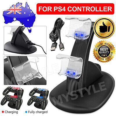 AU13.95 • Buy For Playstation 4 PS4 Controller Charger Dock Dual Stand Charging Station Pad