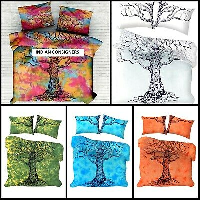 £21.37 • Buy Cotton Bedding Queen Size Duvet Cover Indian Ethnic Dry Tree Wonderful Design