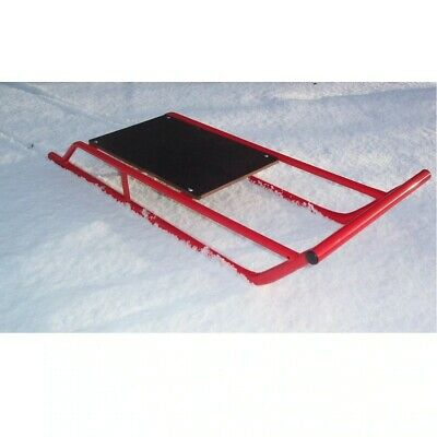 £79.99 • Buy Snow Sledge / Toboggan / Sleigh Steel With Wooden Top Sled / Bobsled / Bobsleigh
