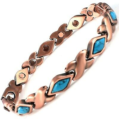 £9.95 • Buy COPPER MAGNETIC BRACELET Pain Relief Carpal Tunnel Arthritis Teal Mens Womens