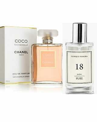 No 18 FM Perfume 50ml By Federico Mahora - Inspired By Coco Mademoiselle • 14£