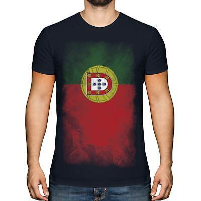 £9.95 • Buy Portugal Faded Flag Mens T-shirt Tee Top Portuguese Shirt Football Jersey Gift