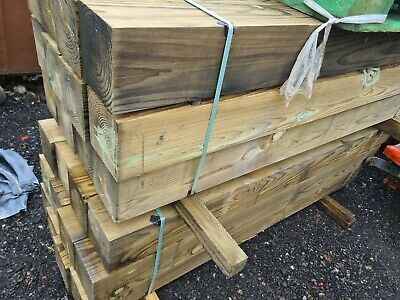 £36 • Buy 7 Inch  Treated Gate Posts ,(flat-topped) 2.1m No Weather Point