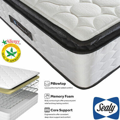 £404.95 • Buy Sealy Symphony Posturetech Memory Mattress In 4 Single, Double, King, Super-King