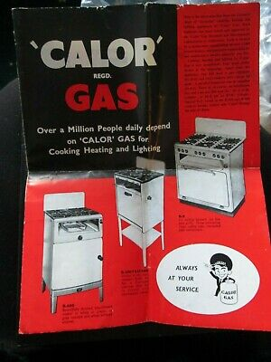 Calor  Gas Cookers, Fires & Lights Brouchure/leaflet Dan Webb & Feesey • 3.99£