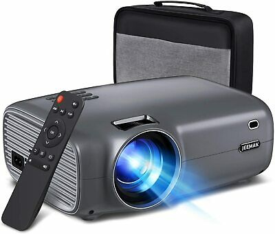 Mini Video Projector 6000 Lumens 1080P Full HD JEEMAK Projector IPhone Android • 99£