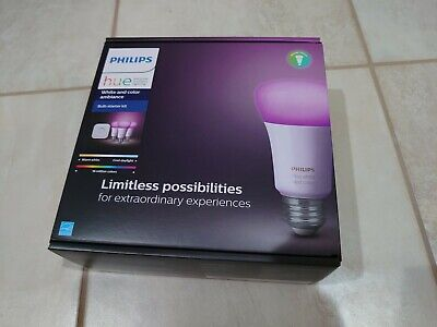AU195.72 • Buy Philips Hue White And Color Ambiance Bulb Starter Kit 1455234
