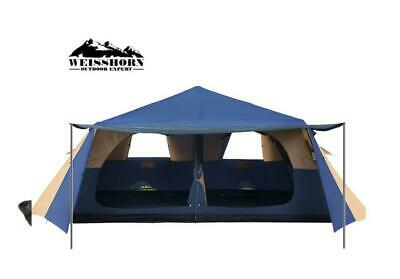 AU263.50 • Buy Weisshorn Instant Pop Up Camping Tent 10 Person Family Hiking Tents