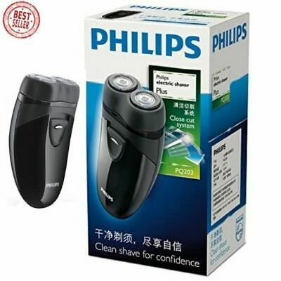 PHILLIP Electric Travel Shaver Cordless Battery Powered Mens Self Sharpening NEW • 24.89£