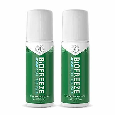 Biofreeze Pain Relief Roll-On 3 Oz. Colorless Roll-On Fast Acting Long Lastin... • 24.21£