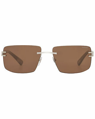 £179.63 • Buy Chopard Brown & Silver And Marble Grey Rimless Sunglasses 95217-0391