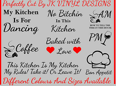 £3.49 • Buy Kitchen Wall Stickers Vinyl Decal Quotes Home Wall Sticker Viny Wall Art Designs