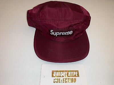 $ CDN87.18 • Buy Supreme 2012 F/w Flight Satin Box Logo Camp Cap Hat 5 Panel Red Used Pre-owned