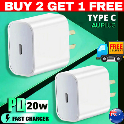AU11.95 • Buy 20W Type C Wall Charger Cable Adapter USB-C Fast  AU Plug PD For IPhone XS/12 11
