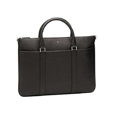 $545 • Buy Montblanc Meisterstuck Soft Grain Leather Document Case Bag Brown 118732 No Box