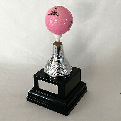 Golf Ball Display Stand, Hole In One Golf Trophy Free Engraving Golf Ball Holder • 14.99£