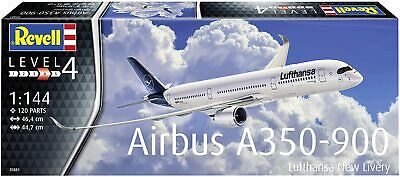 Revell 03881- 1:144 Airbus A350-900 Lufthansa New Livery Plastic Model • 19.99£