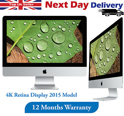 Apple IMac 21.5  4K Retina 2015 Desktop Core I5 5th-Gen 3.1GHz 8GB RAM 1TB HDD • 549.99£