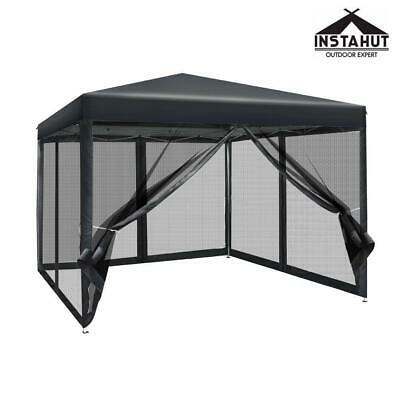AU107.10 • Buy RETURNs Instahut Gazebo Pop Up Marquee 3x3 Wedding Side Mesh Wall Outdoor Gazebo