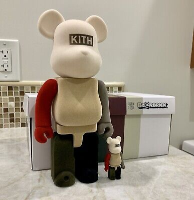 $349.99 • Buy KITH X BEARBRICK 100% & 400% MULTI Pack IN HAND - SOLD OUT - Red Colorway ~ Rare