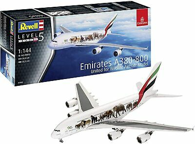 Revell 03882 Airbus A380-800 Emirates 'Wild Life' Plastic 1:14 Scale Model Kit • 21.99£
