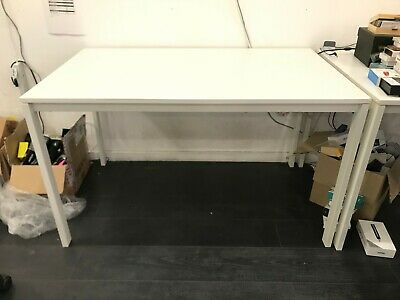 Large Ikea MELLTORP White Computer Office Desk - 125cm X 75cm - Office Clearance • 40£