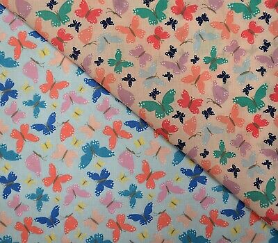 £3.60 • Buy Polycotton Poly Cotton Fabric Sally Butterfly Multi-size 112cm Wide
