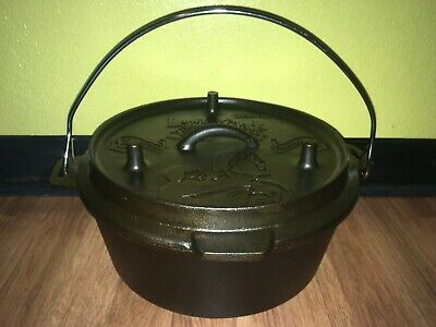 $ CDN444.05 • Buy Cast Iron Camp Dutch Oven Grill Lewis & Clark Corps Of Discovery 5 Qt Camp Chef