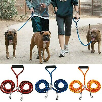 AU19.58 • Buy Duplex Double Dog Coupler Twin Lead Rope For 2 Way Two Pet Dogs Walking Leash