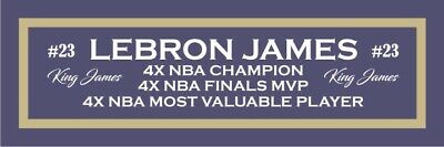 AU10.04 • Buy Lebron James Color Nameplate For Signed Autographed Basketball Photo Jersey