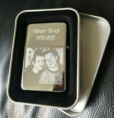 £8.99 • Buy Personalised Engraved Lighter Any Picture Any Text/logo Gift In A Box