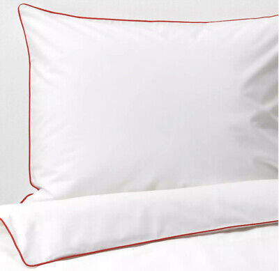 Ikea KUNGSBLOMMA Twin Duvet Cover And Pillowcase White/red - NEW • 25£