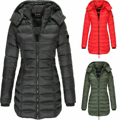 Women's Warm Winter Parka Hooded Long Coat Ladies Quilted Padded Thick Jacket UK • 27.99£