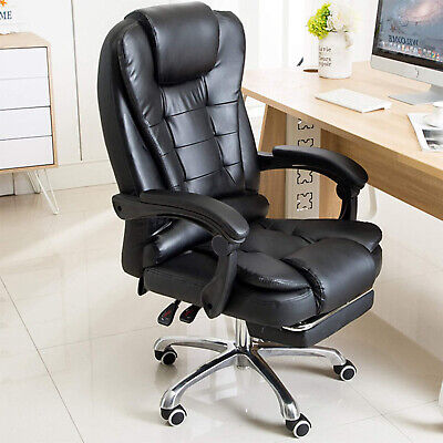 £87.99 • Buy Luxury Massage Computer Office Desk Gaming Chair Swivel Recliner With Footrest