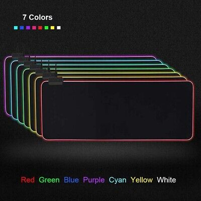 AU19.49 • Buy Led Gaming Mouse Pad Large Medium Small Mouse Mat With RGB Backlit For Computer