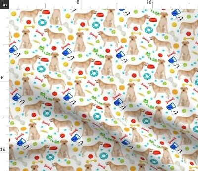 Toys Lab Labrador Labrador Retriever Yellow Lab Spoonflower Fabric By The Yard • 9.32£