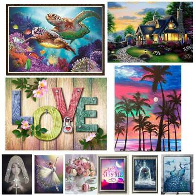 AU17.57 • Buy Scenery 5D Full Drill Diamond Painting Cross Stitch Kits Embroidery Arts Decors