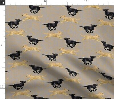 Dog Yellow Puppy Retriever Labrador Retriever Spoonflower Fabric By The Yard • 9.32£
