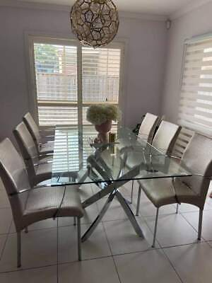 AU38 • Buy Limited Edition Chrome Dining Chairs X8 For Sale