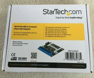 IDE To Compact Flash SSD Adapter StarTech • 9.95£
