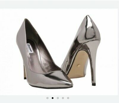 Dune  Size 4, Gorgeous Pewter/silver Mirrored Pointed Toe Court Shoes • 24.99£