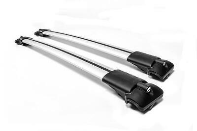 AU224.60 • Buy Silver Aluminium Roof Bars For Suzuki JIMNY 2012-2017, With Raised Roof Rails