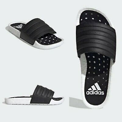 AU63.21 • Buy Adidas Adilette Boost Slides Core Black Cloud White Sandals Slippers Yeezy