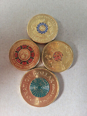 AU20 • Buy  3 Rare Coloured $2 Coins Plus Bonus $1 Donation Coin