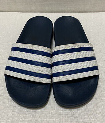 AU10 • Buy ADIDAS Adilette Unisex Pool Slide Navy/White Sz UK5 / Eu 38 / AU 4 / US 5 (MALE)