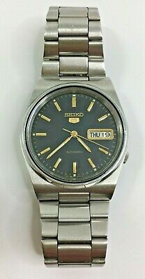 $ CDN120.82 • Buy Vintage SEIKO 5 Automatic Mens Day Date Wristwatch 7009-3130 Black Dial