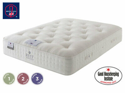 £565.19 • Buy 4ft6 Double Rest Assured British Wool Collection FIRM Mattress