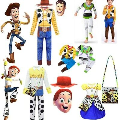 £10.63 • Buy Toy Story 4 Cosplay Woody Jessie Jumpsuit Bodysuit Costume Fancy Dress Up Outfit